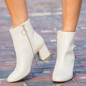 ABLE Bone Crocodile Celina Ankle Boots